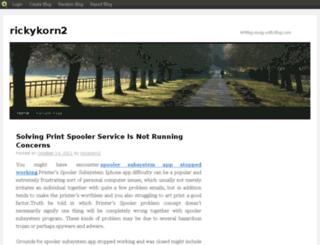 rickykorn2.blog.com screenshot
