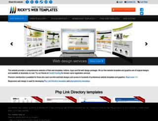 rickyswebtemplates.com screenshot