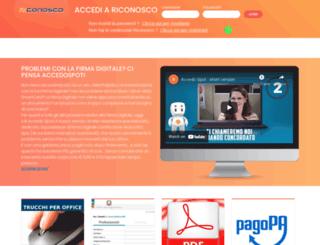 riconosco.dcssrl.it screenshot