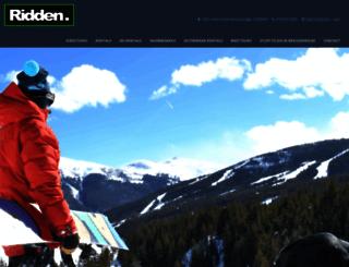 riddengear.com screenshot
