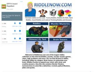 riddlenow.com screenshot