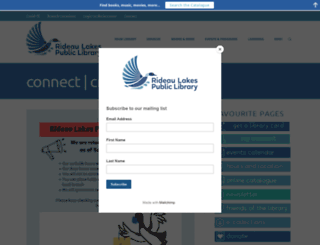 rideaulakeslibrary.ca screenshot