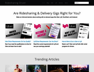 ridesharingdriver.com screenshot
