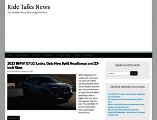 ridetalks.com screenshot
