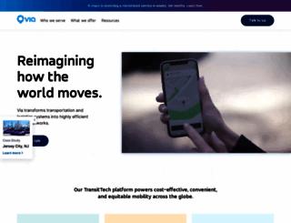 ridewithvia.com screenshot