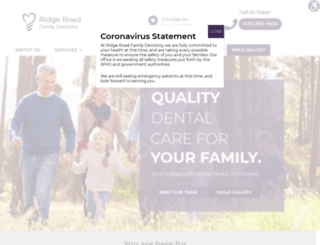 ridgeroadfamilydentistry.com screenshot