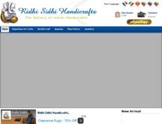 ridhisidhihandicrafts.com screenshot