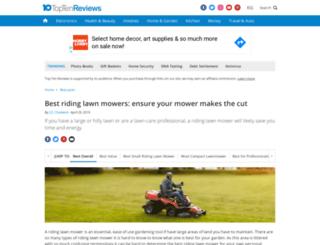 riding-lawn-mowers-review.toptenreviews.com screenshot