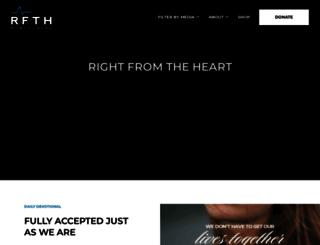 rightfromtheheart.org screenshot