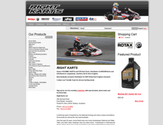 rightkarts.co.nz screenshot