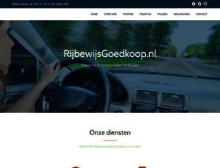 rijbewijsgoedkoop.nl screenshot