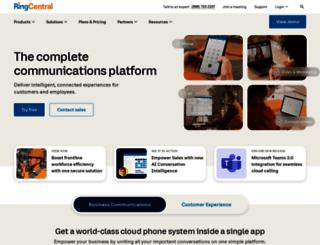 ringcentral.com screenshot