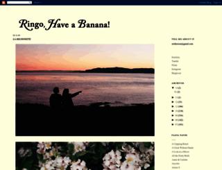 ringohaveabanana.blogspot.com screenshot