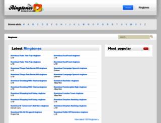 ringtones0.com screenshot