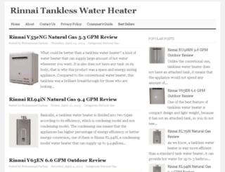 rinnaitanklesswaterheaterpro.com screenshot
