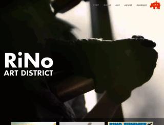 rinoartdistrict.org screenshot