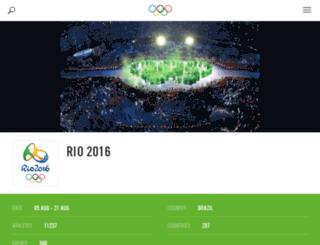 rio2016.org screenshot