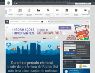 riodosul.sc.gov.br screenshot