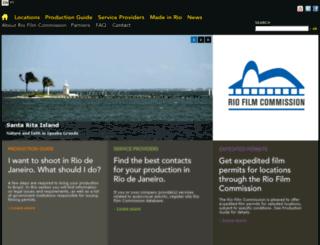 riofilmcommission.rj.gov.br screenshot