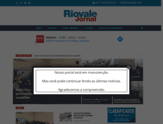 riovalejornal.com.br screenshot