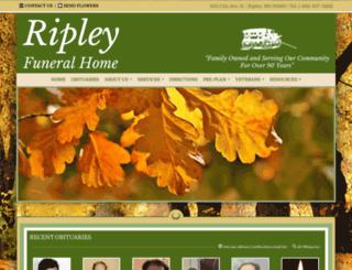 ripleyfuneralhome.com screenshot