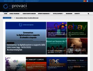 riprovaci.it screenshot