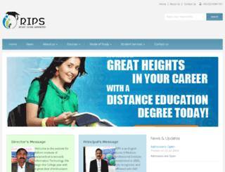 rips.edu.pk screenshot