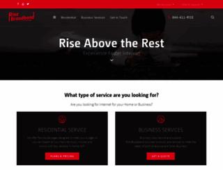 risebroadband.com screenshot