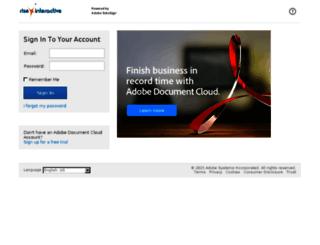 riseinteractive.echosign.com screenshot