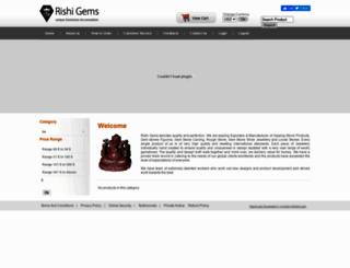 rishigems.com screenshot