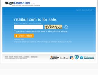 rishikul.com screenshot