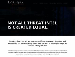 riskanalytics.com screenshot