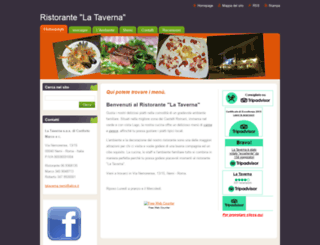 ristorantelatavernanemi.webnode.it screenshot