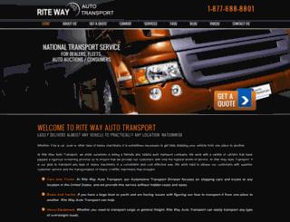 ritewayautotransport.com screenshot