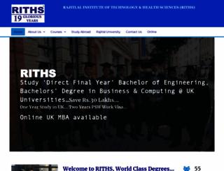 riths.com screenshot