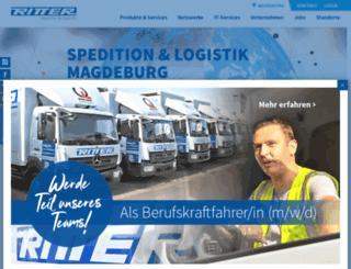 ritter-logistik.de screenshot