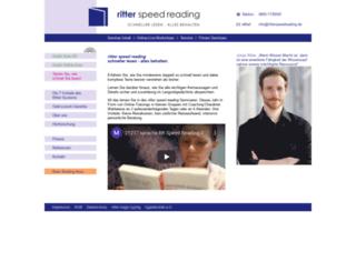 ritterspeedreading.de screenshot