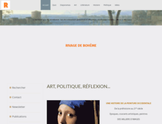 rivagedeboheme.fr screenshot