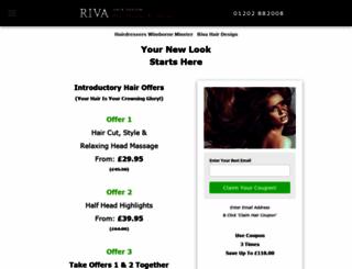 rivahair.com screenshot