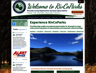 rivcoparks.org screenshot