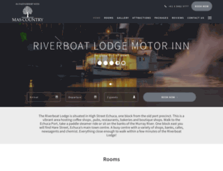 riverboatmotel.com.au screenshot