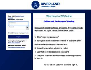riverland.mywconline.com screenshot