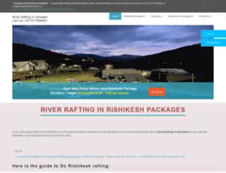 riverraftingrishikesh.co.in screenshot