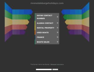 riversdalebargeholidays.com screenshot
