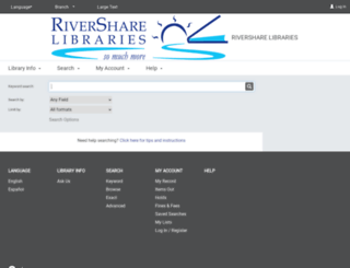 rivershare.polarislibrary.com screenshot