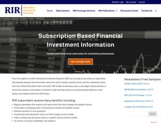rivershoreinvestmentresearch.com screenshot