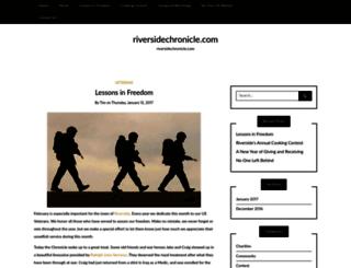 riversidechronicle.com screenshot