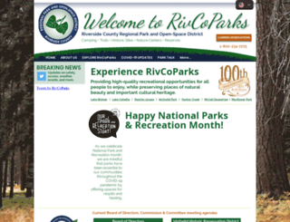 riversidecountyparks.org screenshot