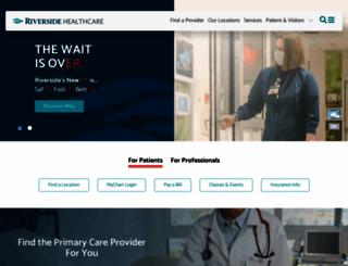 riversidehealthcare.org screenshot