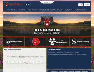 riversidesd.org screenshot